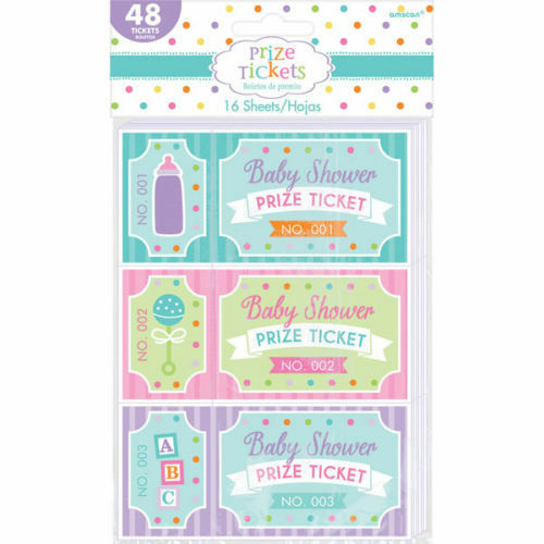 """Baby Shower Prizes For Game Winners: ~*~48 X """"Door Prize"""" Winning Tickets"""" BABY SHOWER GAME"""