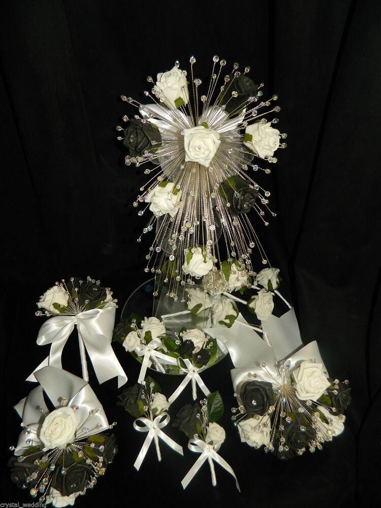 Rose crystal bouquet collection wedding flowers all for Crystal fall