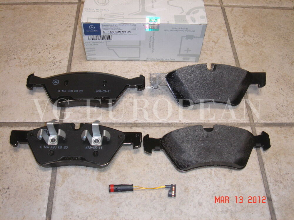 mercedes gl class genuine front brake pad set pads w