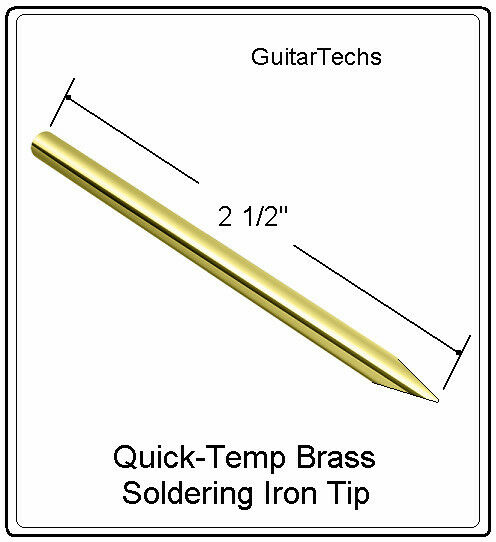 guitartechs soldering iron brass needle tip 1 8 3mm for guitar pickup wire ebay. Black Bedroom Furniture Sets. Home Design Ideas