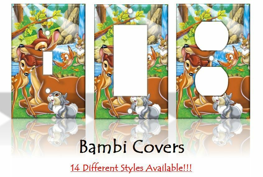 Bambi light switch covers disney home decor outlet ebay for Disney home decorations