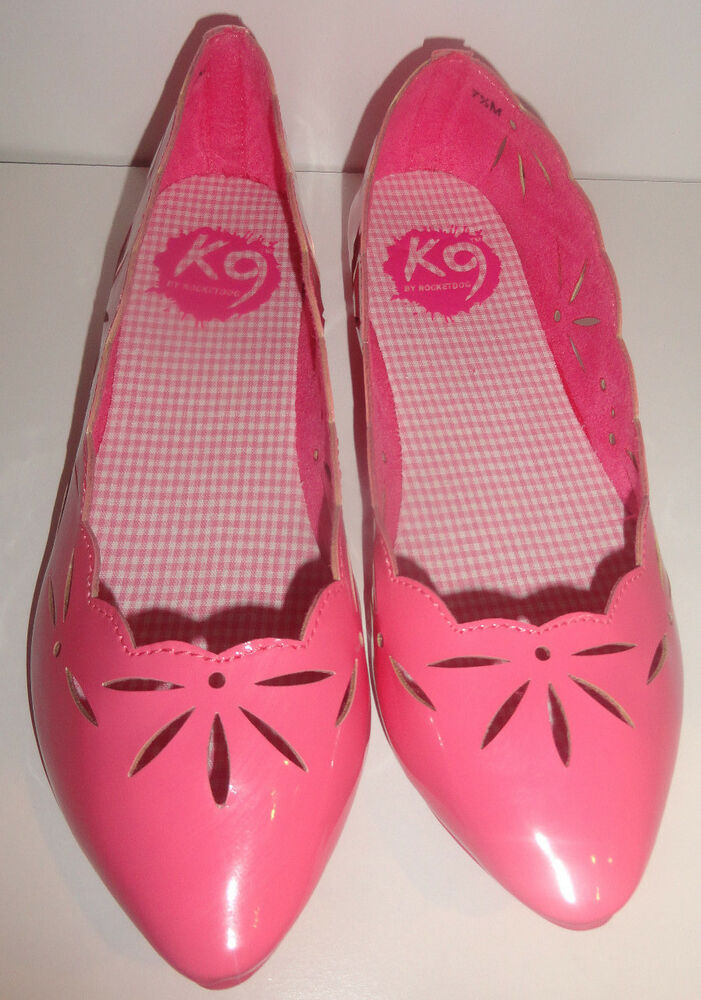 b5d2fddf4bf89 K9 By Rocket Dog Ladies K9 By Rocketdog Pink Cindy Flats High Gloss Shoes
