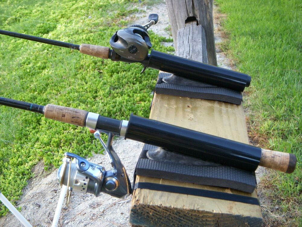New pier dock fishing rod pole holder angled with for Pier fishing rod holder