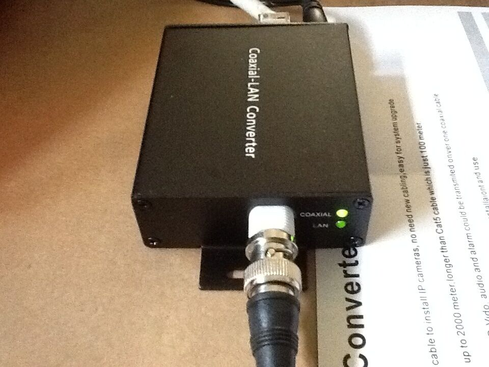 Coaxial Cable To Ethernet Adapter : Ethernet over coax converter two wire network