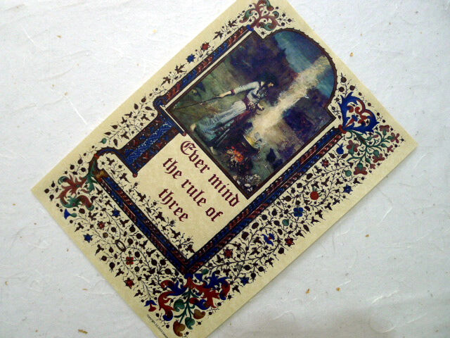 Ever Mind The Rule Of Three Parchment Poster Wicca Pagan