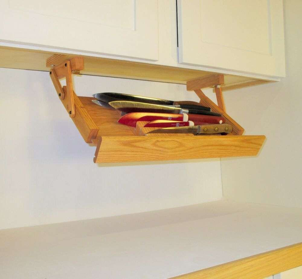 Under Kitchen Cabinet Knife Storage