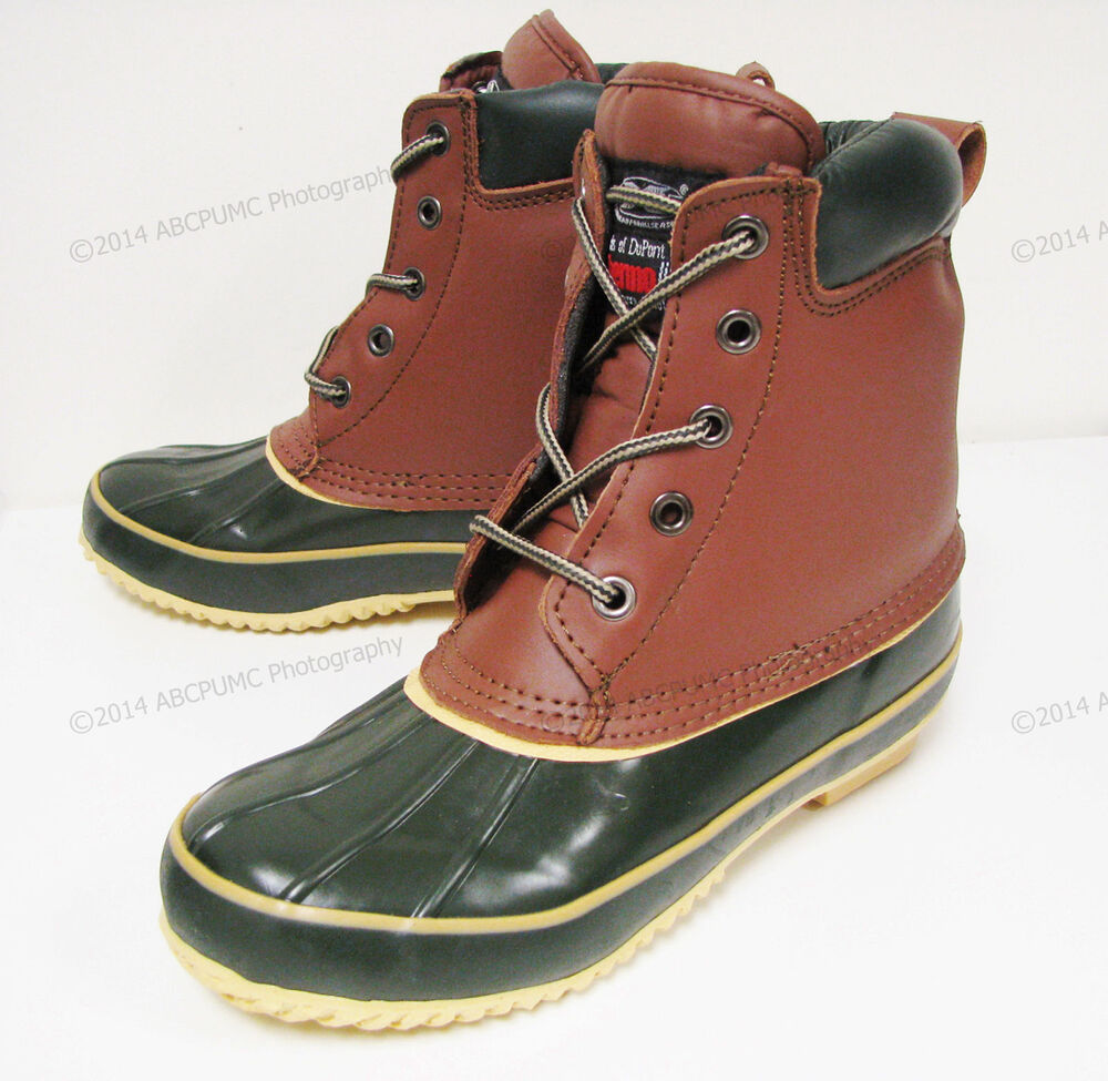 s duck boots leather insulated waterproof hiking
