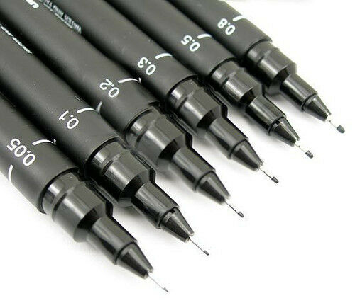 Line Drawing Pen : Uniball pen uni pin fine line technical drawing pens