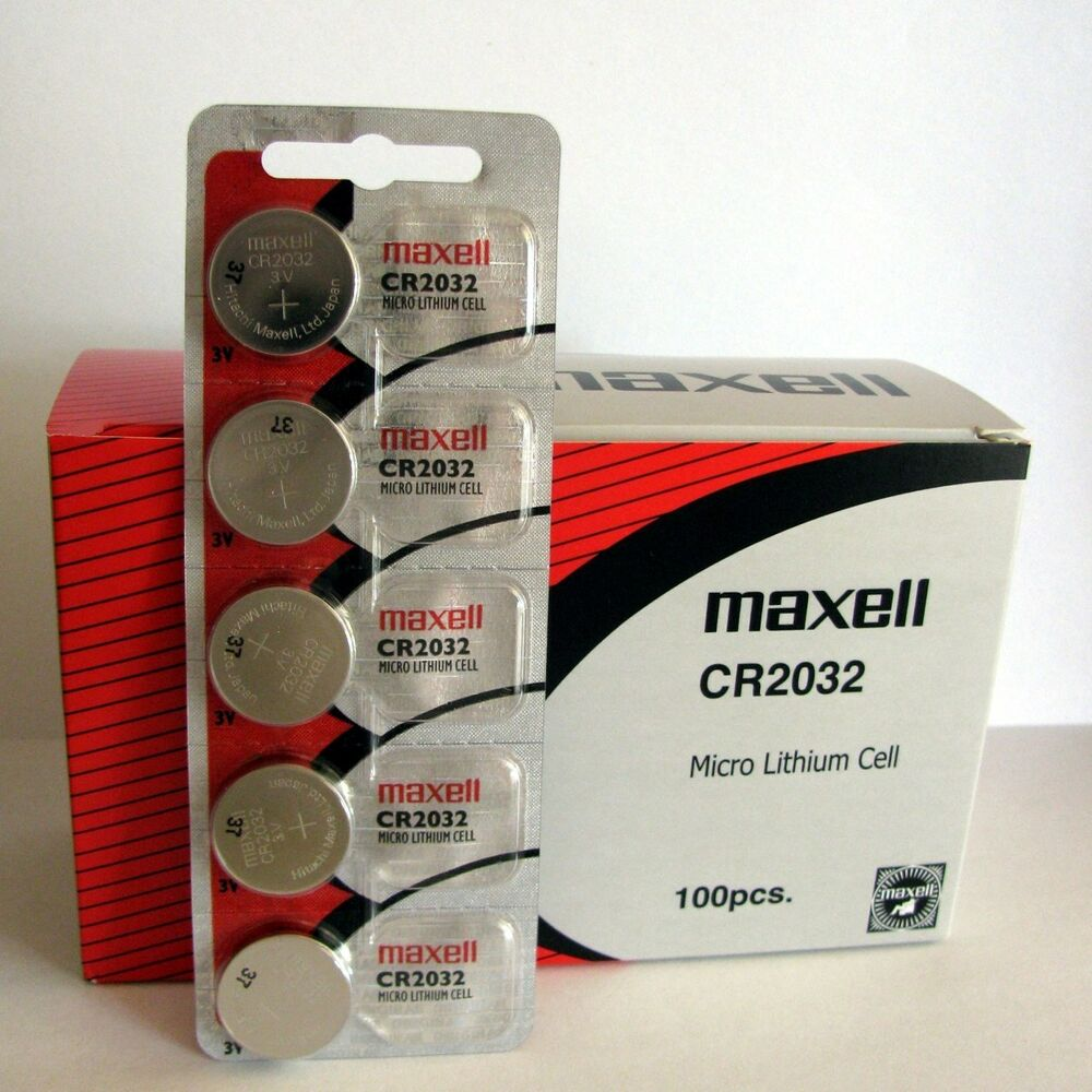 100 original maxell cr2032 cr 2032 lithium 3v battery new ebay. Black Bedroom Furniture Sets. Home Design Ideas