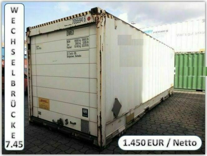 wechselbr cke container mit rolltor swap body wechselpritsche gebraucht ebay. Black Bedroom Furniture Sets. Home Design Ideas