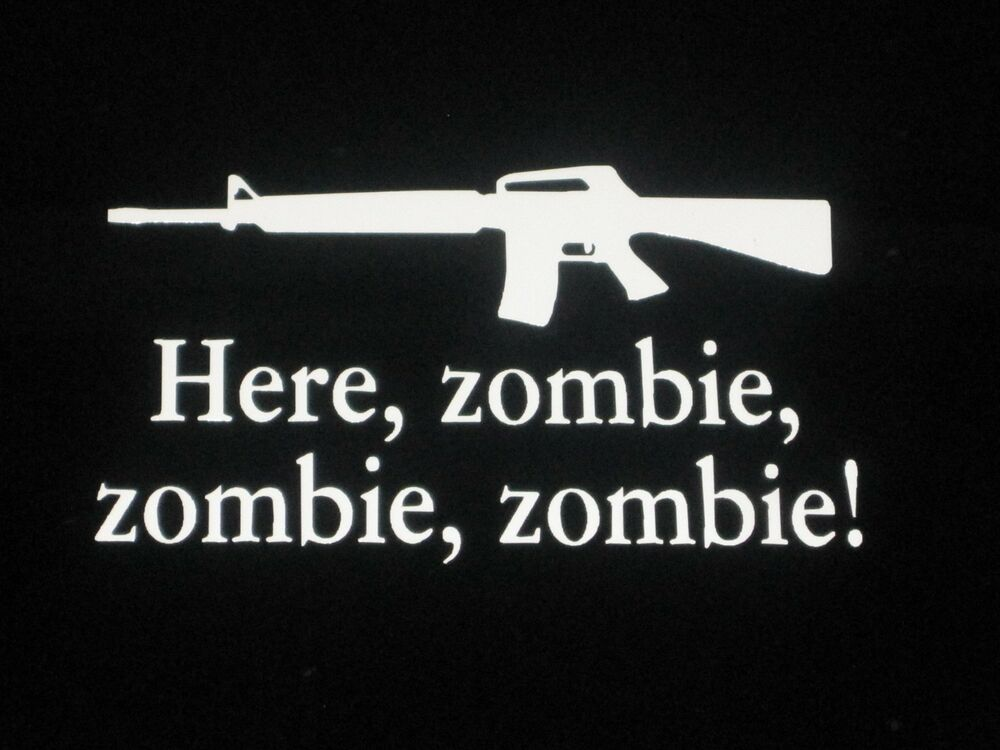 Here Zombie Zombie Zombie Walking Dead Vinyl Decal Sticker