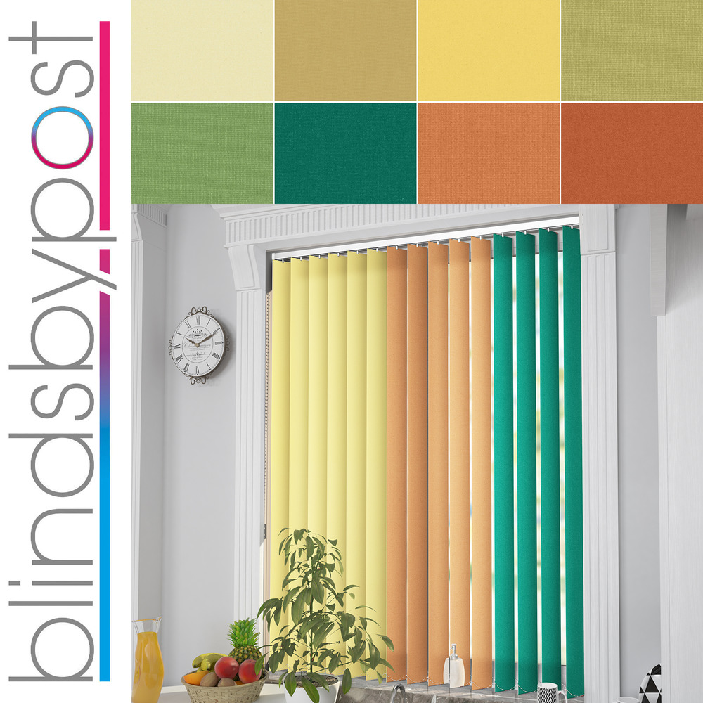 Complete Vertical Blinds Made To Measure Yellow Orange