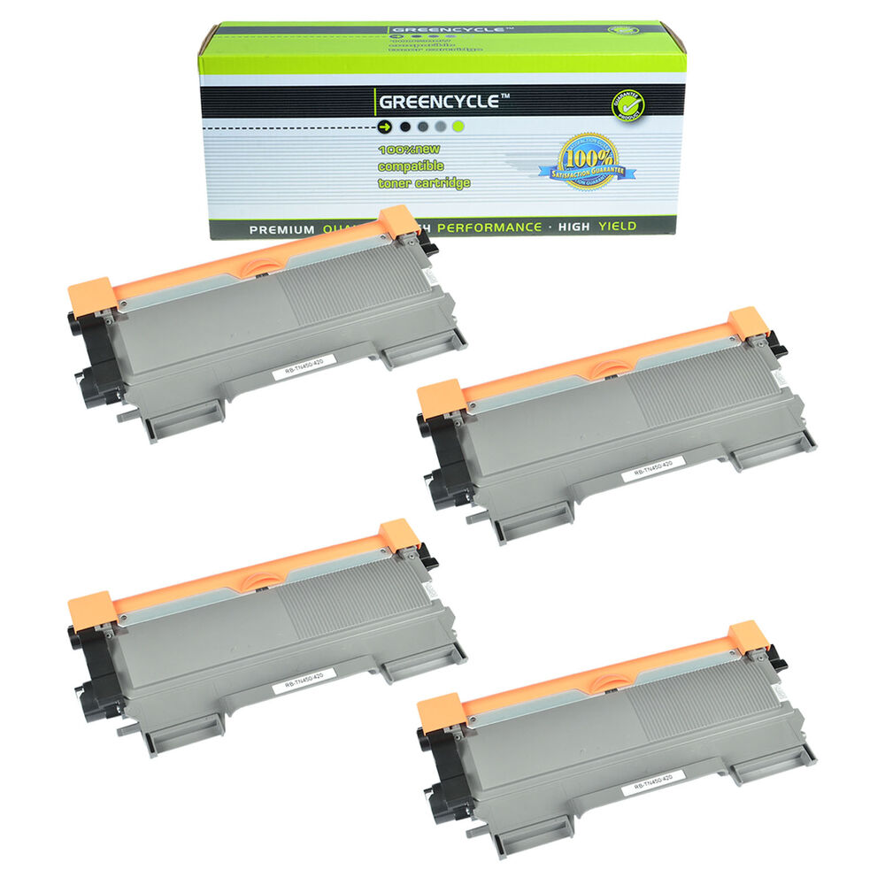 4pk tn450 toner cartridge for brother hl 2130 hl 2132 hl 2242d hl 2250dn printer ebay. Black Bedroom Furniture Sets. Home Design Ideas