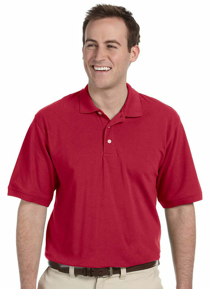 Harriton men 39 s three button placket side vents short for 3 button polo shirts