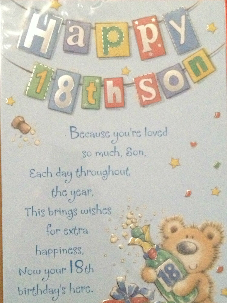 Son Th Birthday Cards Uk ~ Son th birthday card ebay