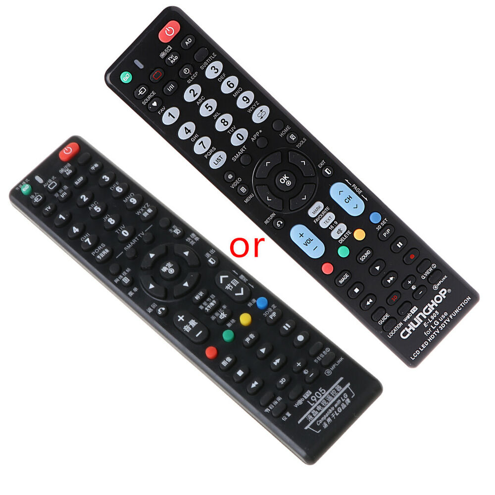 Universal remote control e l905 for lg use lcd led hdtv for 1000 in 1 universal a c remote code table
