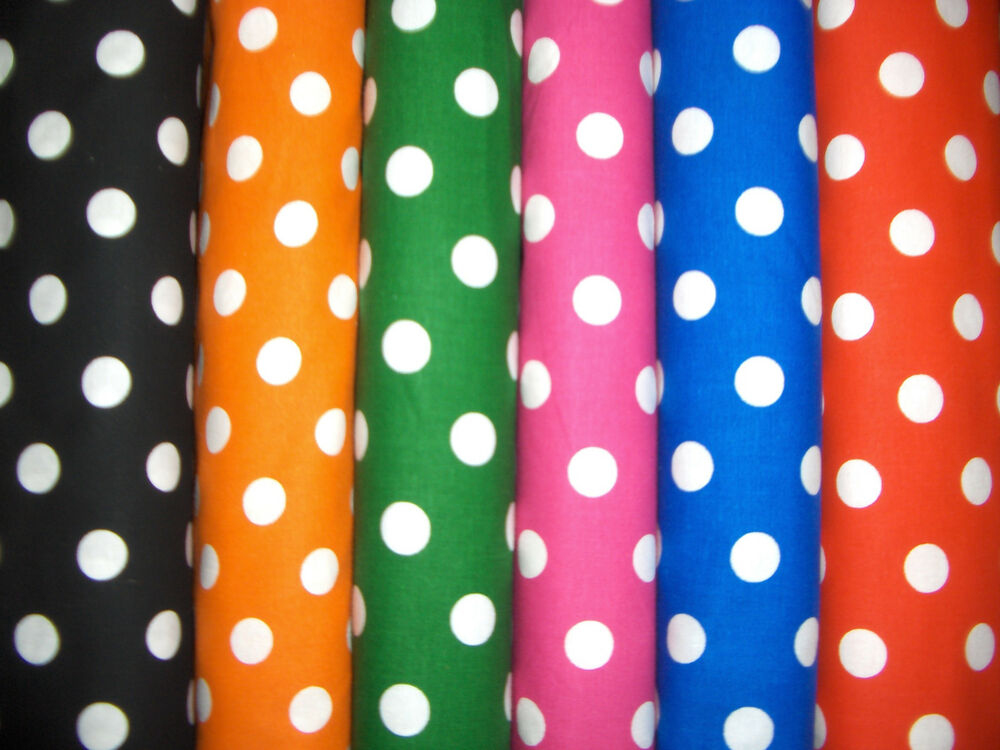 1 2 Quot Polka Dots Cotton Quilt Fabric 6 Colors Available Ebay