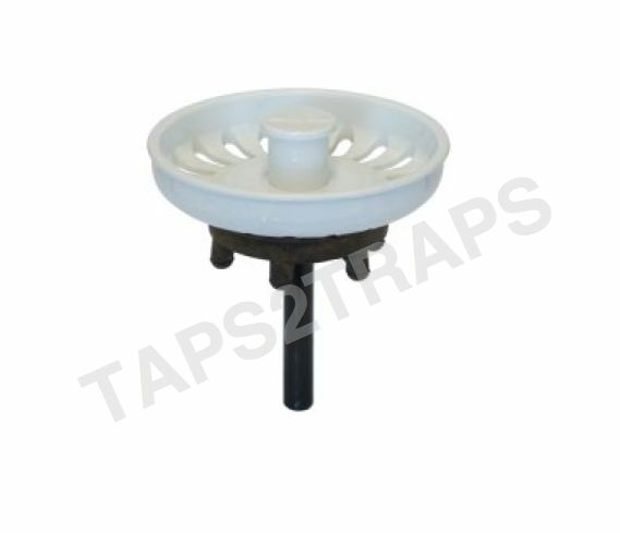 White Kitchen Sink Plug Strainer