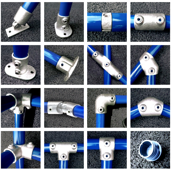 Pipe Clamp Handrail System 42mm Fittings Connectors