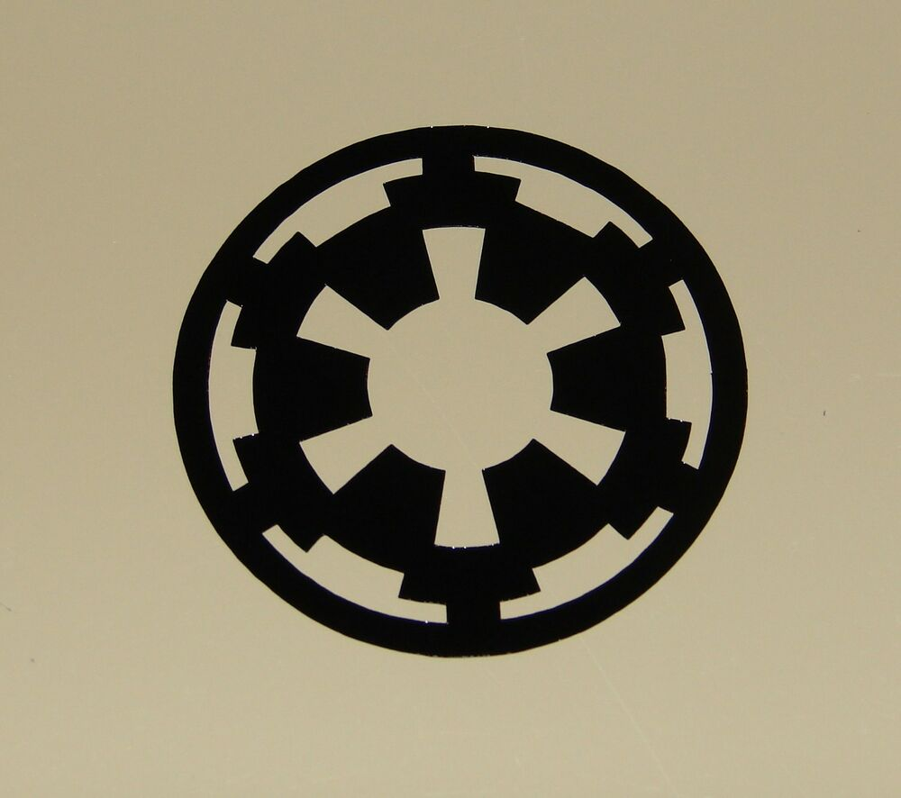 imperial logo vinyl decal sticker star wars black 1 2 ebay. Black Bedroom Furniture Sets. Home Design Ideas