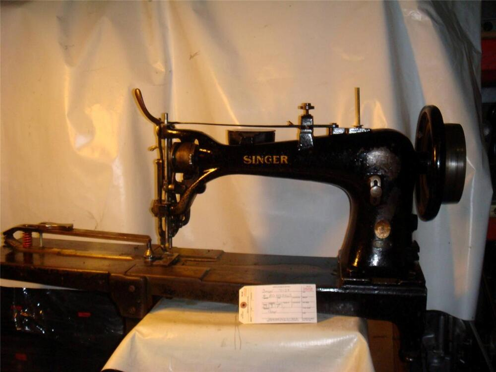 Singer 7 Class 7 34 Extra Heavy Duty Used To Make Buffing Wheels Sewing Machine Ebay