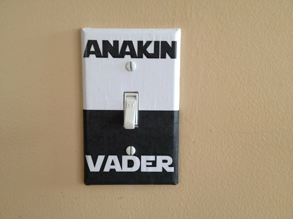 Star wars anakin vader dark side sci fi light switch for Home decor outlet 63125