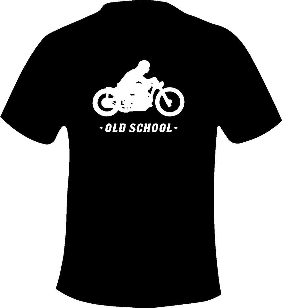Biker bobber old school style motorcycle printed t shirt for T shirt print dimensions