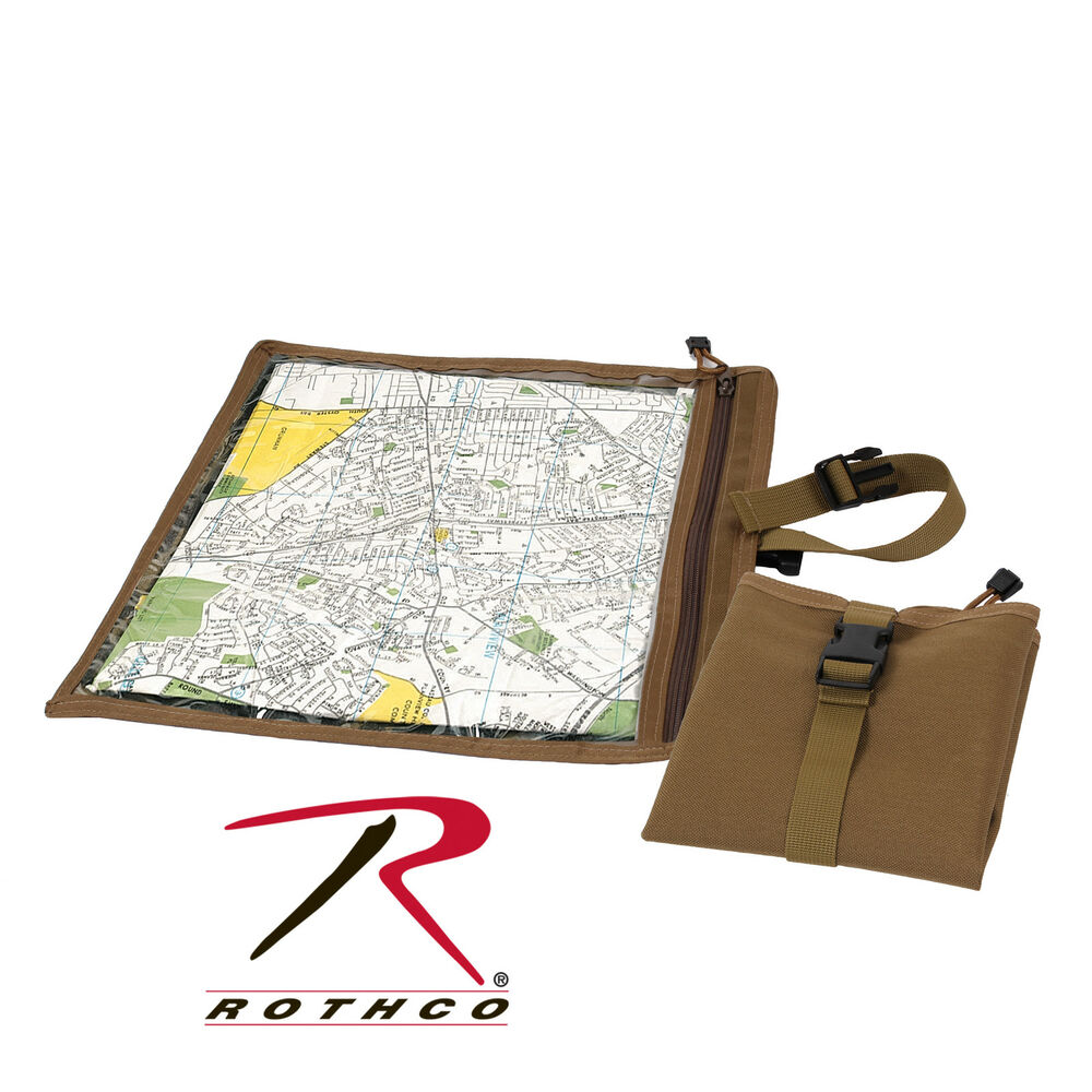 New rothco 9238 waterproof coyote brown map document for Document pouch for shipping