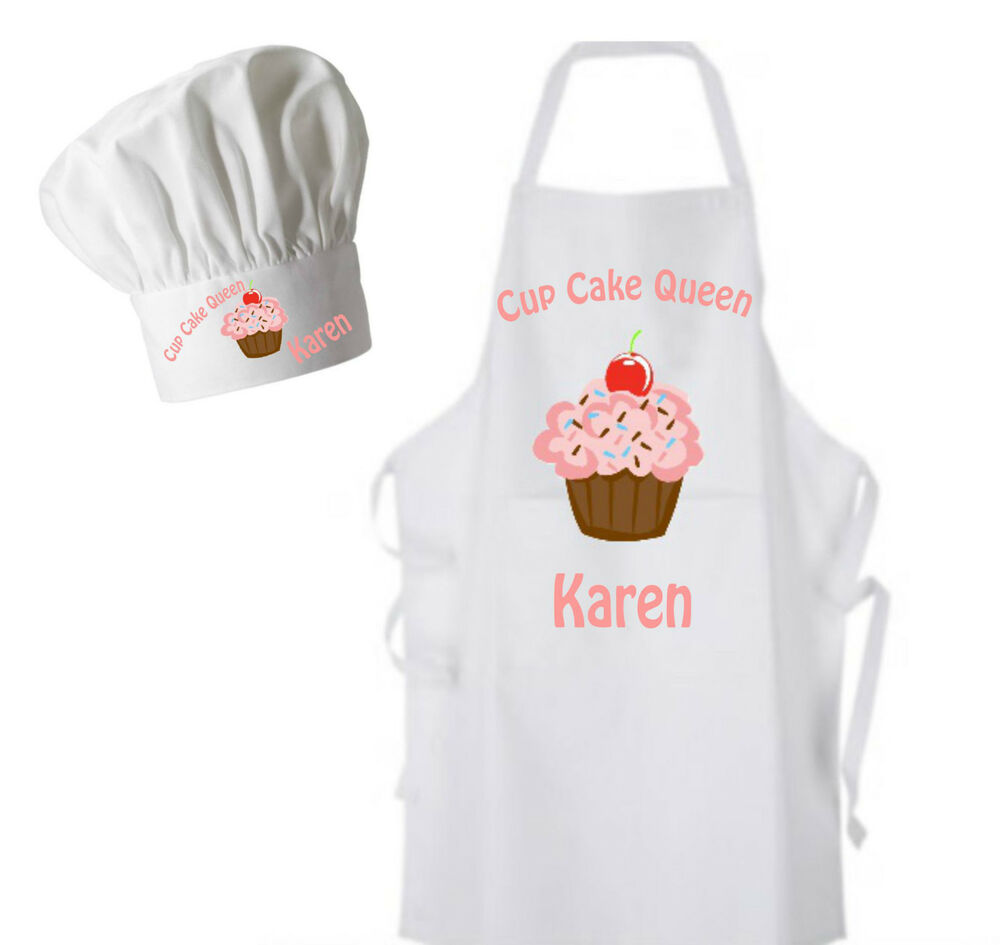 Cup Cake Personalised Adults Apron And Chef 39 S Hat Lovely