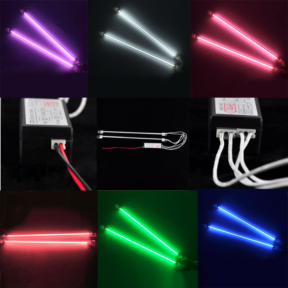lot 2 6 12 15cm 30cm ccfl interior exterior neon tube 12v pc bright car lights ebay. Black Bedroom Furniture Sets. Home Design Ideas
