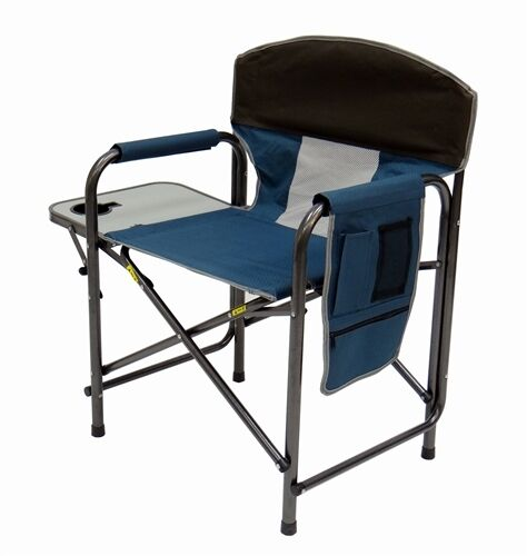 Chair with padded armrests side table amp large storage pouch ebay