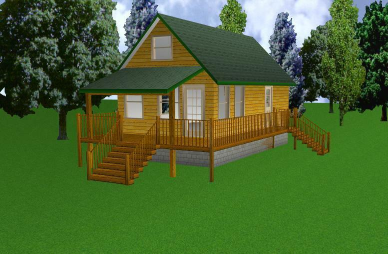 16x30 cabin w loft plans package blueprints material. Black Bedroom Furniture Sets. Home Design Ideas