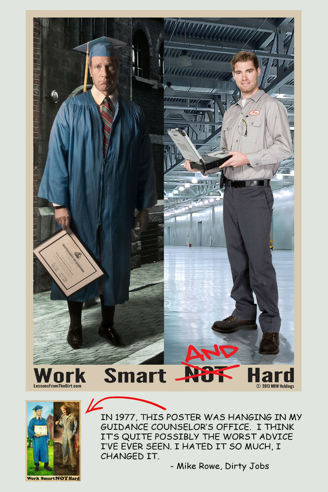 Mike Rowe - Work Smart AND Hard Poster | eBay