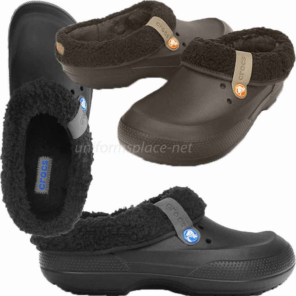 0c9653f5c Details about Crocs Clogs Unisex Mens Womens Clogs Faux Fur Lined Clog  Blitzen