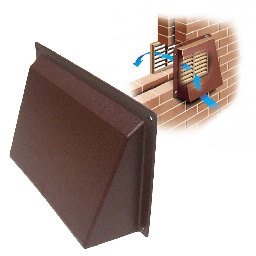 9quot x 6quot brown cowl vent cover for openings air bricks for Furniture covers air vent