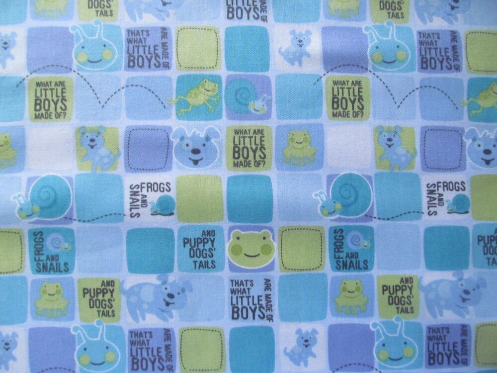Sale what little boys are made of snails frogs cotton for Boys cotton fabric