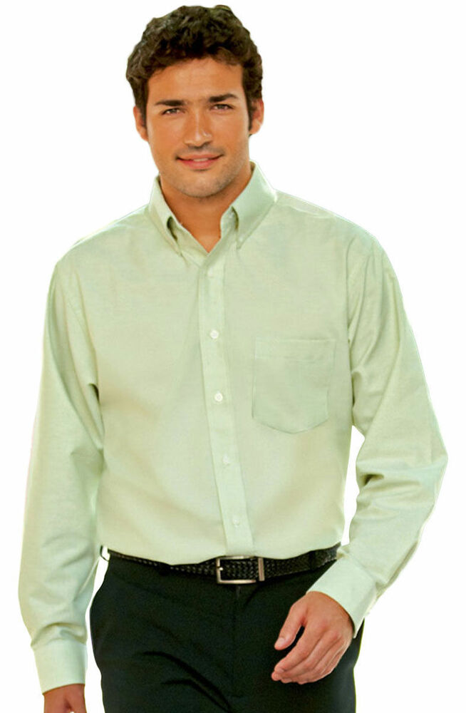 Ultraclub Men 39 S Button Down Collar Extended Tail Pocket