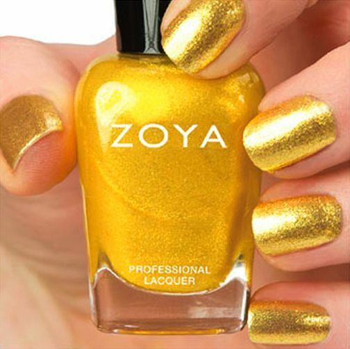 Metallic Gold Nail Polish: ZOYA #ZP684 KERRY Yellow Gold Metallic Nail Polish