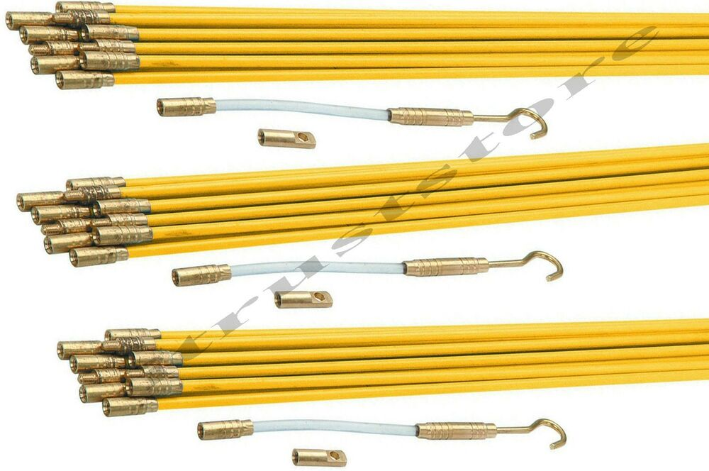 Fiberglass Cable Running Rods Kit Fish Tape Electrical