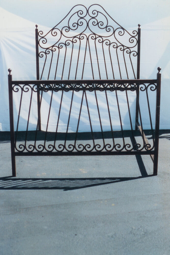 New Wrought Iron Custom Hand Forged Scrolled Bed Frame Ebay