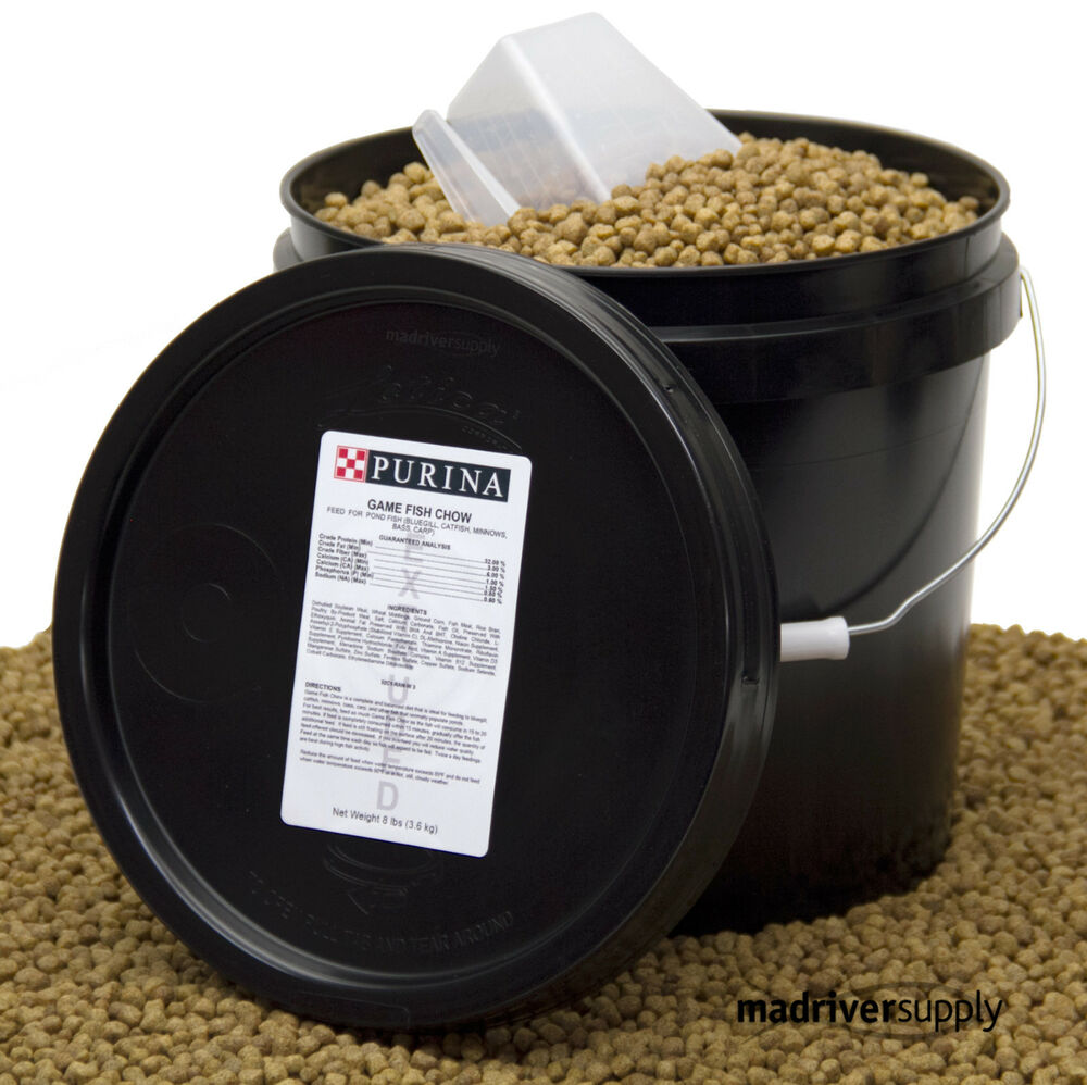 Purina mills game fish chow pond pellets for bluegill for Pond fish food