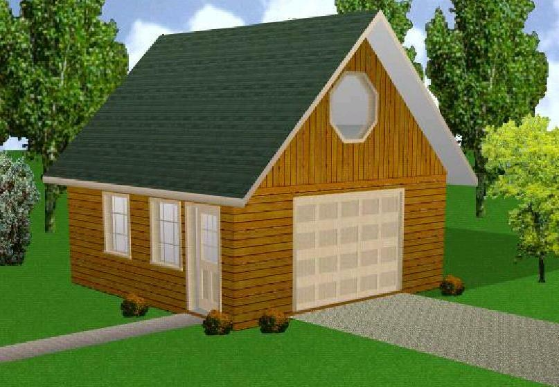 20x20 garage w loft plans package blueprints material for Material list for garage