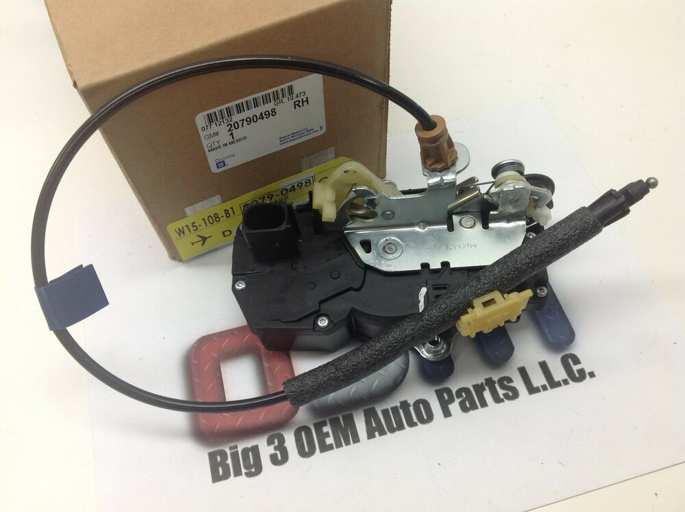 2006 Buick Lucerne >> 2006-2010 Buick Lucerne RH Passenger Rear Door Latch w/ Lock Actuator new OEM | eBay