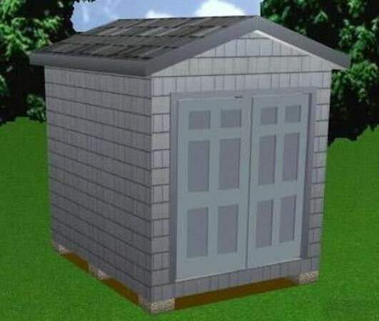 8x10 storage shed plans package blueprints material list for Garden shed tab