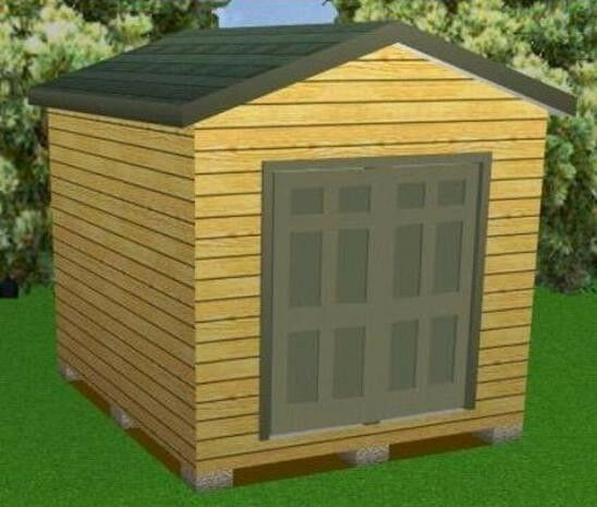 10x12 storage shed plans package blueprints material for Garden shed 10x10