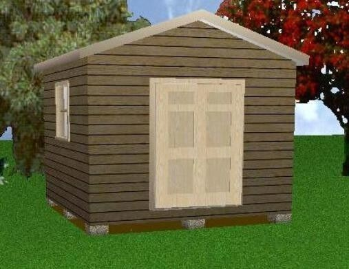 12x12 storage shed plans package blueprints material for Garden shed 12x12