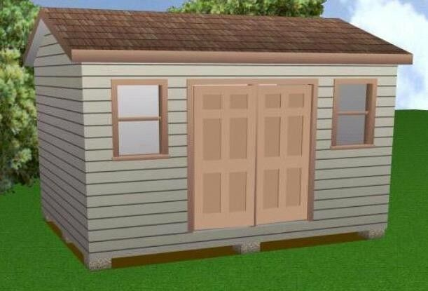Garage With Storage Free Materials List: 12x16 Storage Shed Plans Package, Blueprints, Material