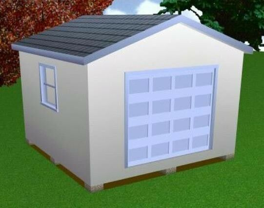 14x14 Storage Shed Plans Package Blueprints Material