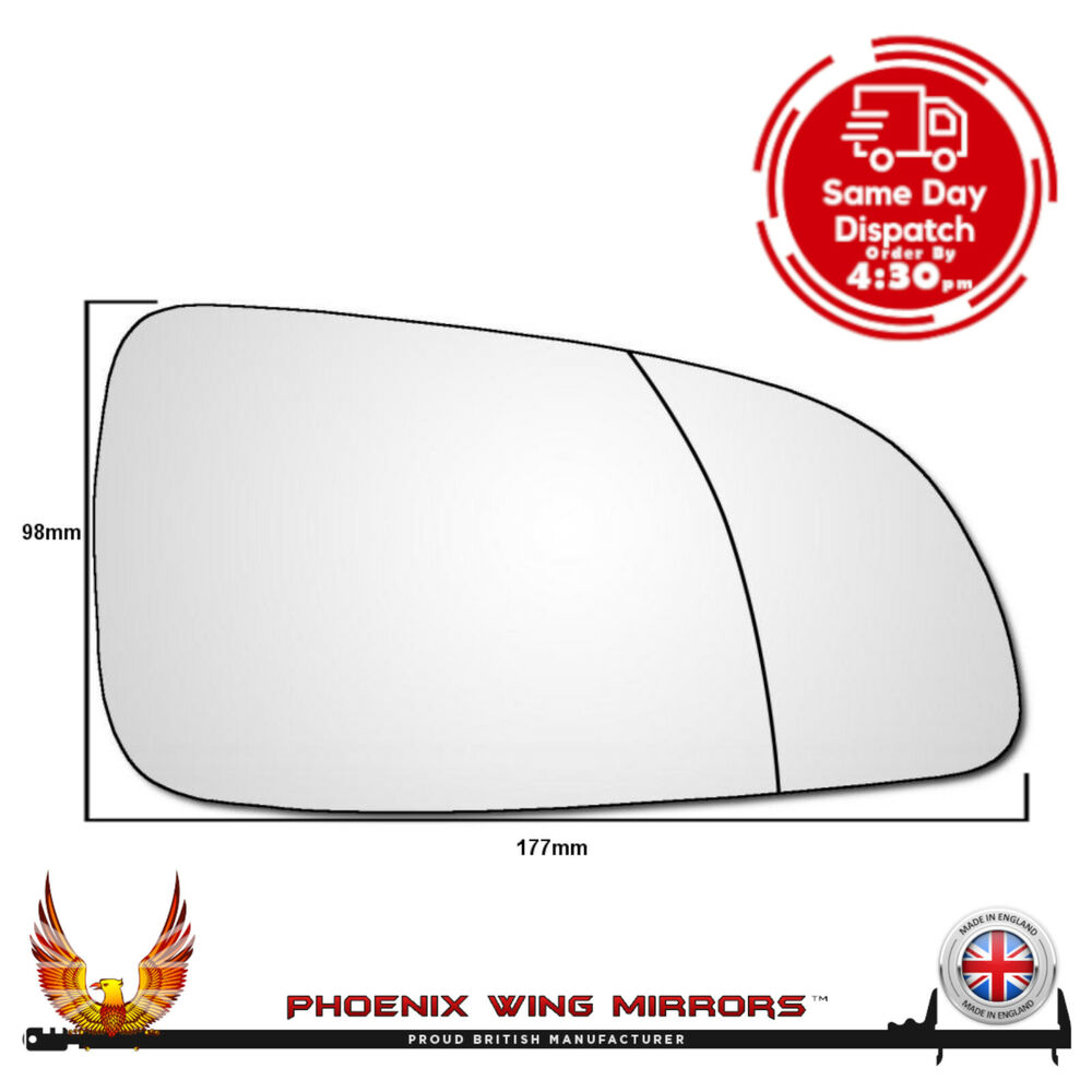 Astra H Wing Mirror Glass