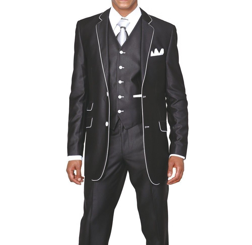 The slim fit styling and Venetian Super 's wool make the Steel Grey Sterling Wedding Suit the ideal choice for your next semi-formal event.